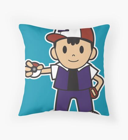 Earthboundamon Throw Pillow