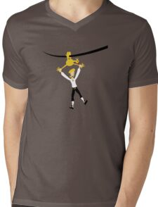Rubber chicken with a pulley in the middle Mens V-Neck T-Shirt