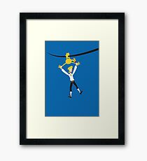 Rubber chicken with a pulley in the middle Framed Print