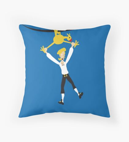 Rubber chicken with a pulley in the middle Throw Pillow