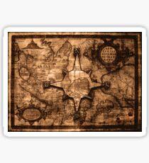 Ancient World Traveler - Map & Compass Rose Sticker