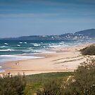 Sunshine Beach and Mt Coolum by Brad Baker