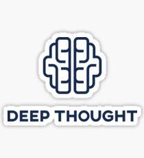 Deep Thought Sticker