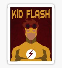 Young Justice: Minimalist Kid Flash Poster Sticker