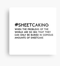 #SHEETCAKING Metal Print