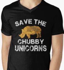Speichern Sie die Chubby Unicorns T-Shirt T-Shirt mit V-Ausschnitt für Männer