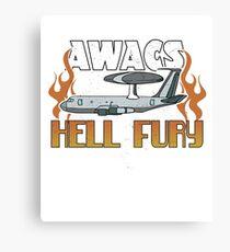 AWACS - Hell Fury Airplaine Canvas Print