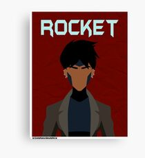 Young Justice: Minimalist Rocket Poster Canvas Print