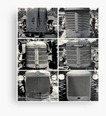 Tractor Faces Metal Print