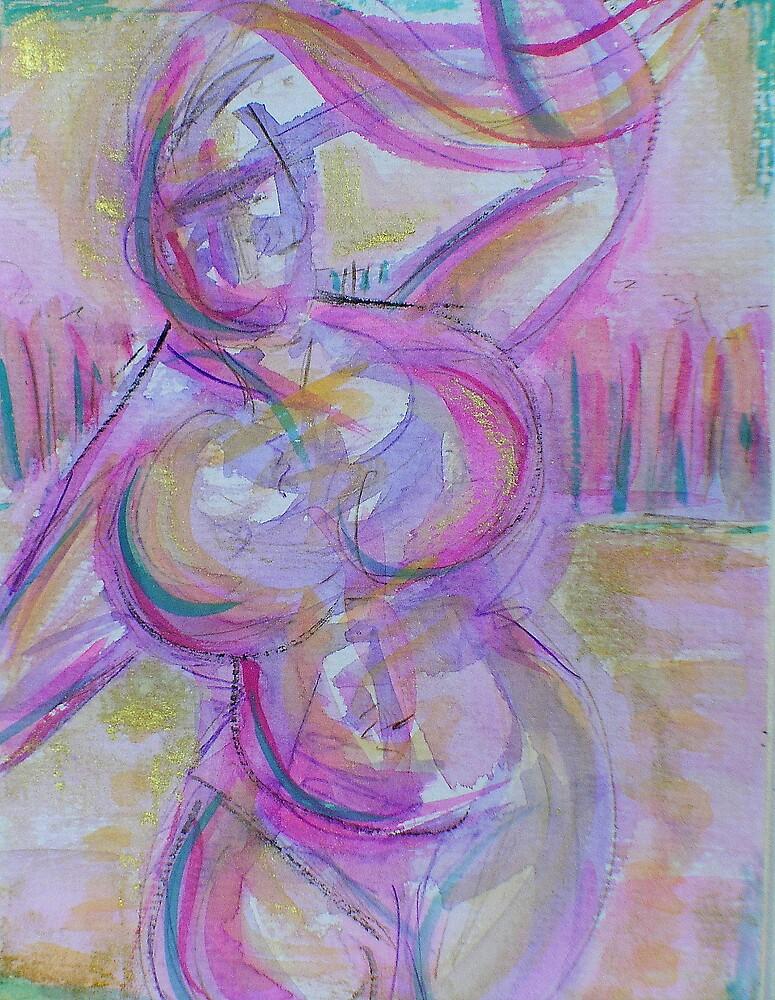 Purple Lady by gayle hoskins-nestor