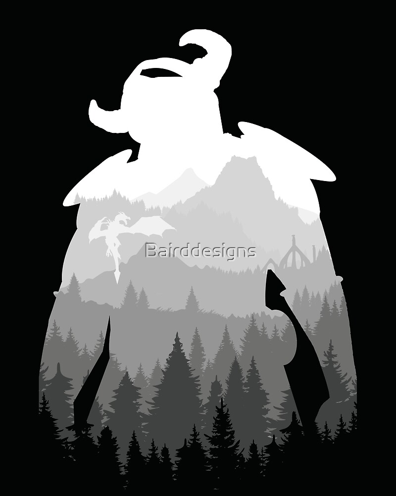Elder Scrolls - Skyrim by Bairddesigns
