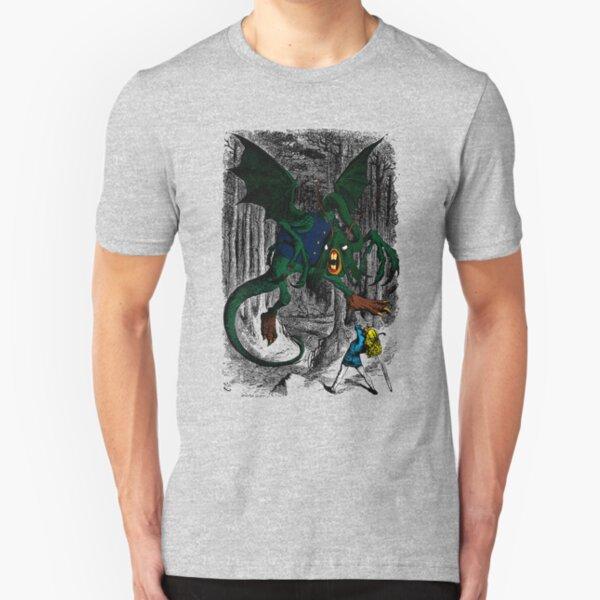 Alice Fights the Jabberwocky Slim Fit T-Shirt
