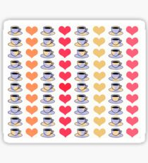 Coffee and Hearts Sticker