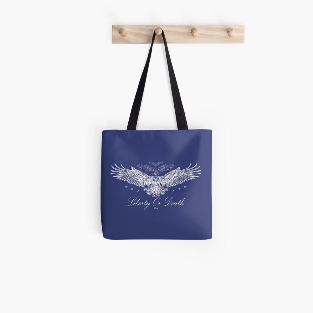 Liberty Or Death - Bald Eagle USA Tote Bag