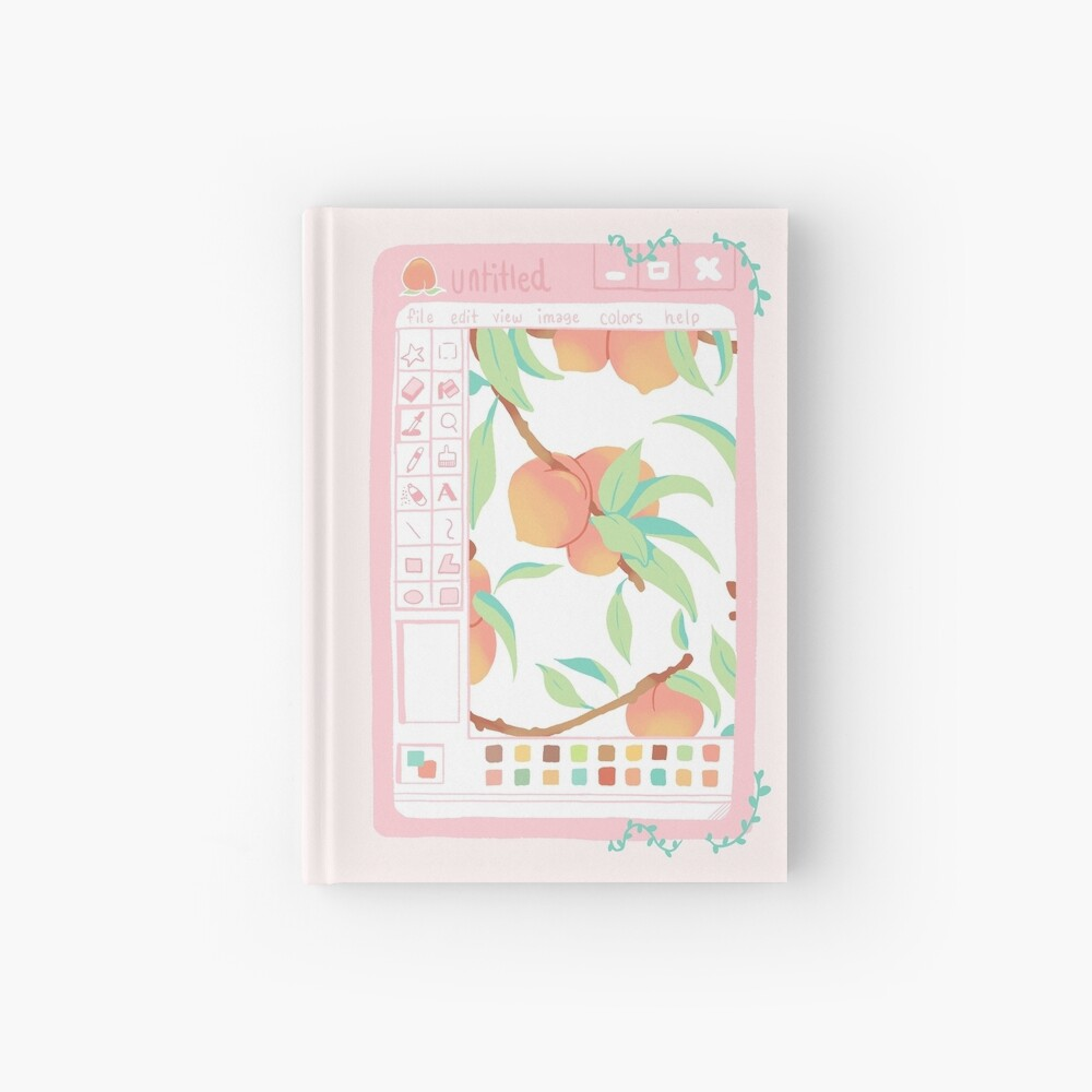 Peach Paint Hardcover Journal