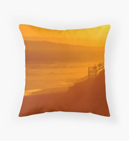 End of Day 13th Beach Throw Pillow