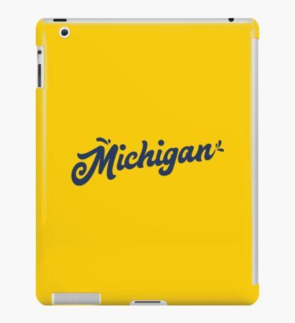 Michigan Hand Lettering iPad Case/Skin