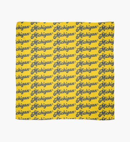 Michigan Hand Lettering Scarf