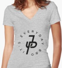 Everyday Bro It's JP Women's Fitted V-Neck T-Shirt