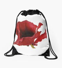 Poppy By Dianna Derhak Drawstring Bag