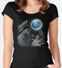 Three seal moon Women's Fitted Scoop T-Shirt