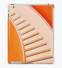 Orange Colored Spiral Staircase iPad Case/Skin