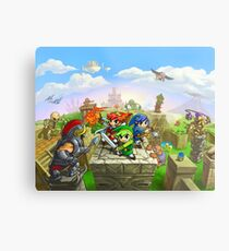 Triforce Heroes Metal Print