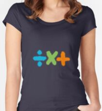 Ed Sheeran: Plus + Multiply x Divide ÷  Women's Fitted Scoop T-Shirt