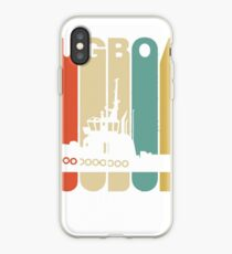 Vintage Style Tugboat Silhouette Shirt iPhone Case