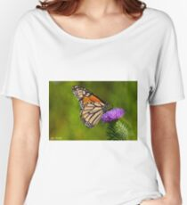 Monarch Butterfly on a Thistle Women's Relaxed Fit T-Shirt