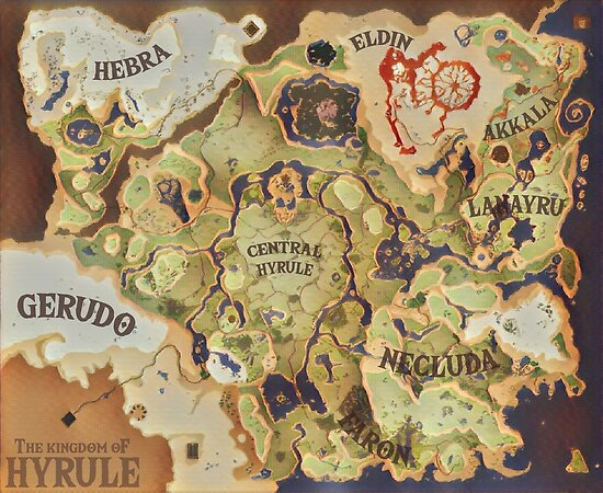 Quot Breath Of The Wild Provincial Map Quot Poster By