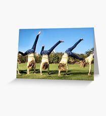'Cartwheel' Greeting Card