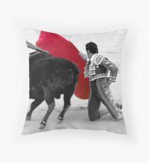 Matador and Bull. 1 Throw Pillow