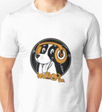 Dog with Headphones - Circle Image T-Shirt