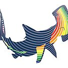 color swirl shark by asyrum