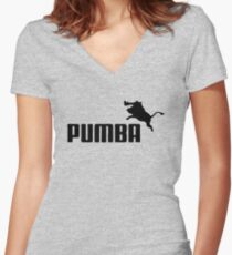 pumba Women's Fitted V-Neck T-Shirt