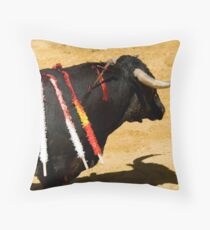 Bull and Sword. Throw Pillow