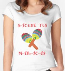Mexican Sacude Tus Maracas - Shake Your Maracas Vacation Design Women's Fitted Scoop T-Shirt