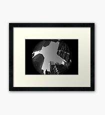 Look up. Mong Kok Framed Print