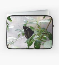 Black butterfly on green leaves  Laptop Sleeve
