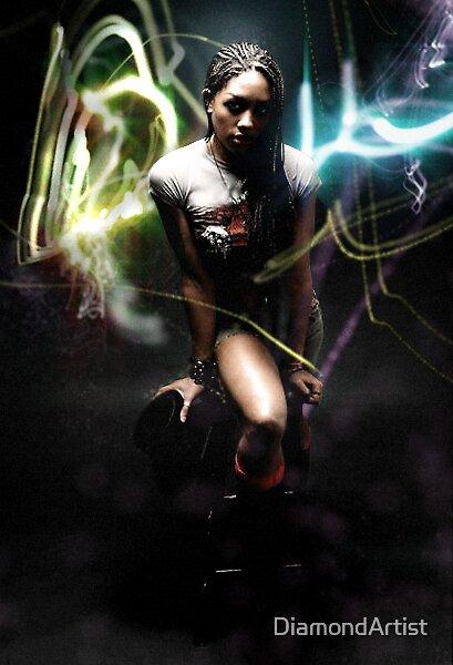 Glowing Scribbles (2007) by DiamondArtist