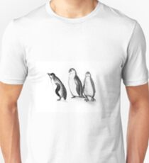 Drawing illustration of penguins  T-Shirt