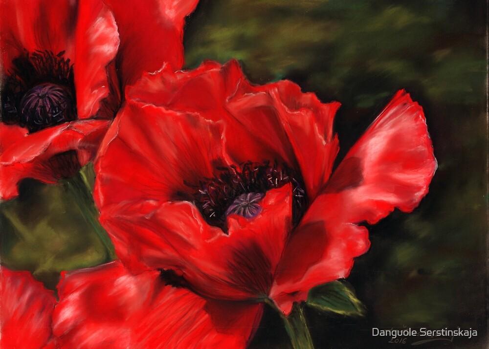 Poppies by Danguole Serstinskaja