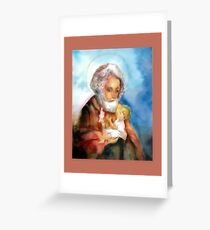 St Joseph with Infant Christ Greeting Card