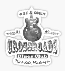 Pegatina Black Crossroads Blues Club