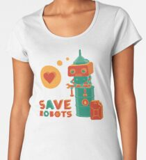 Save robots Women's Premium T-Shirt