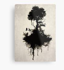Letzter Baum steht Metallbild
