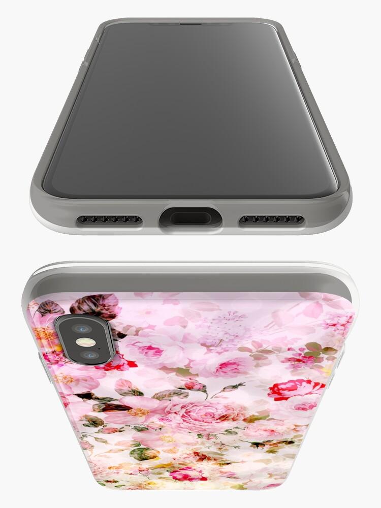 Vista alternativa de Vinilos y fundas para iPhone Patrón de acuarela en colores pastel rosa vintage