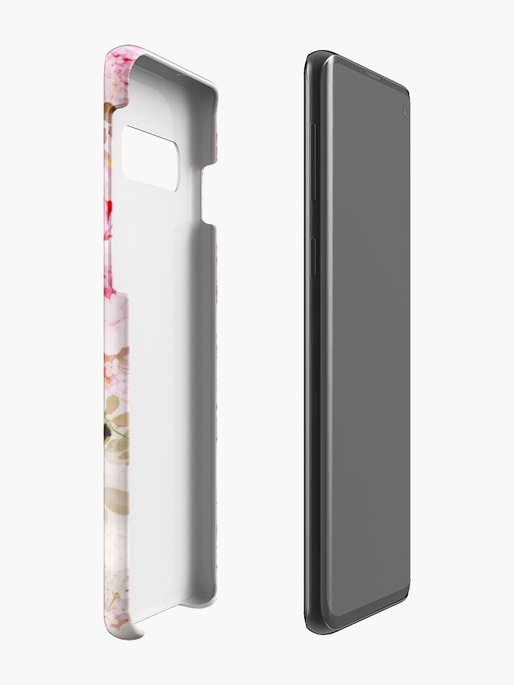 Alternate view of Vintage pink pastel watercolor floral pattern Cases & Skins for Samsung Galaxy