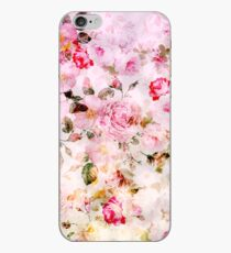 Vintage pink pastel watercolor floral pattern iPhone Case